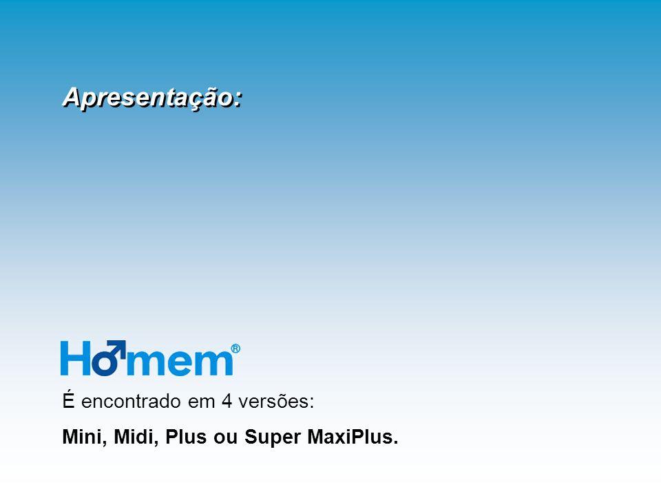 É encontrado em 4 versões: Mini, Midi, Plus ou Super MaxiPlus. Apresentação: