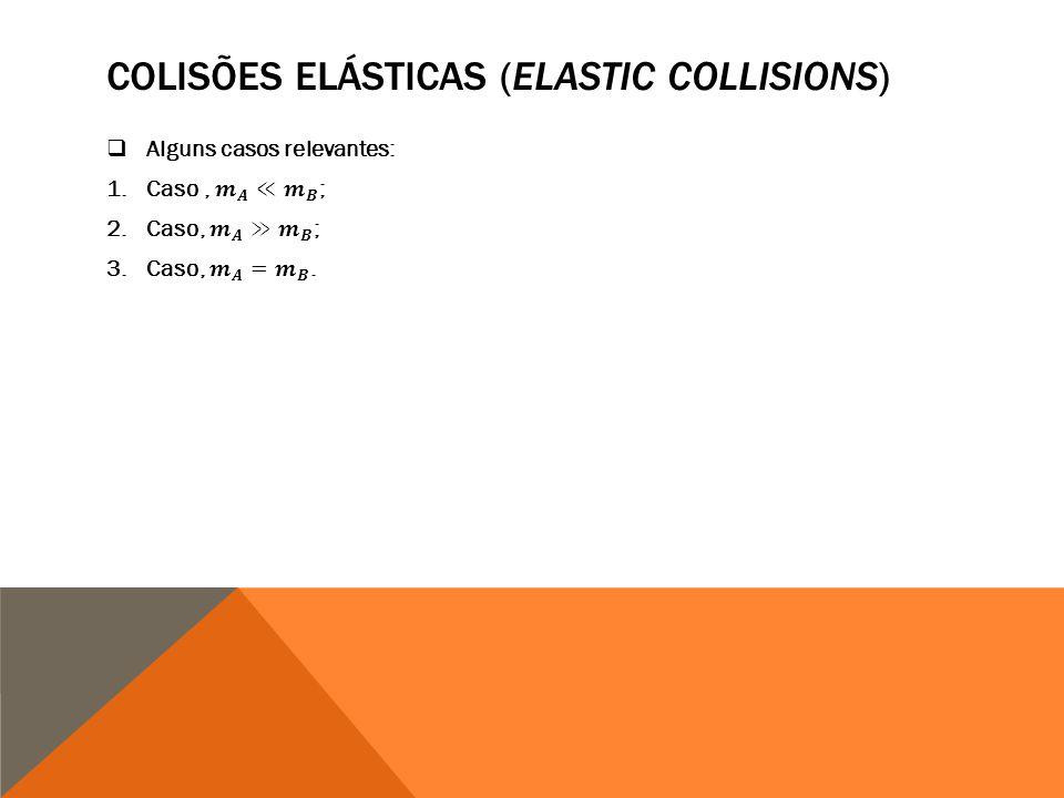 COLISÕES ELÁSTICAS (ELASTIC COLLISIONS)