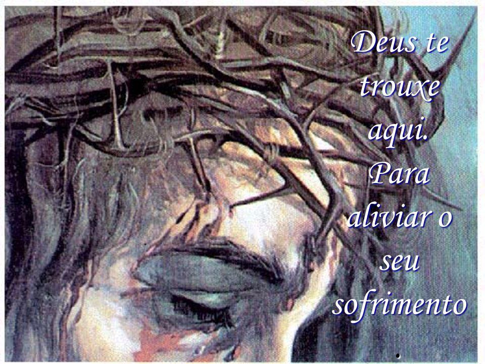 Após a dor vem a alegria Pois Deus é amor E não te deixará sofrer!