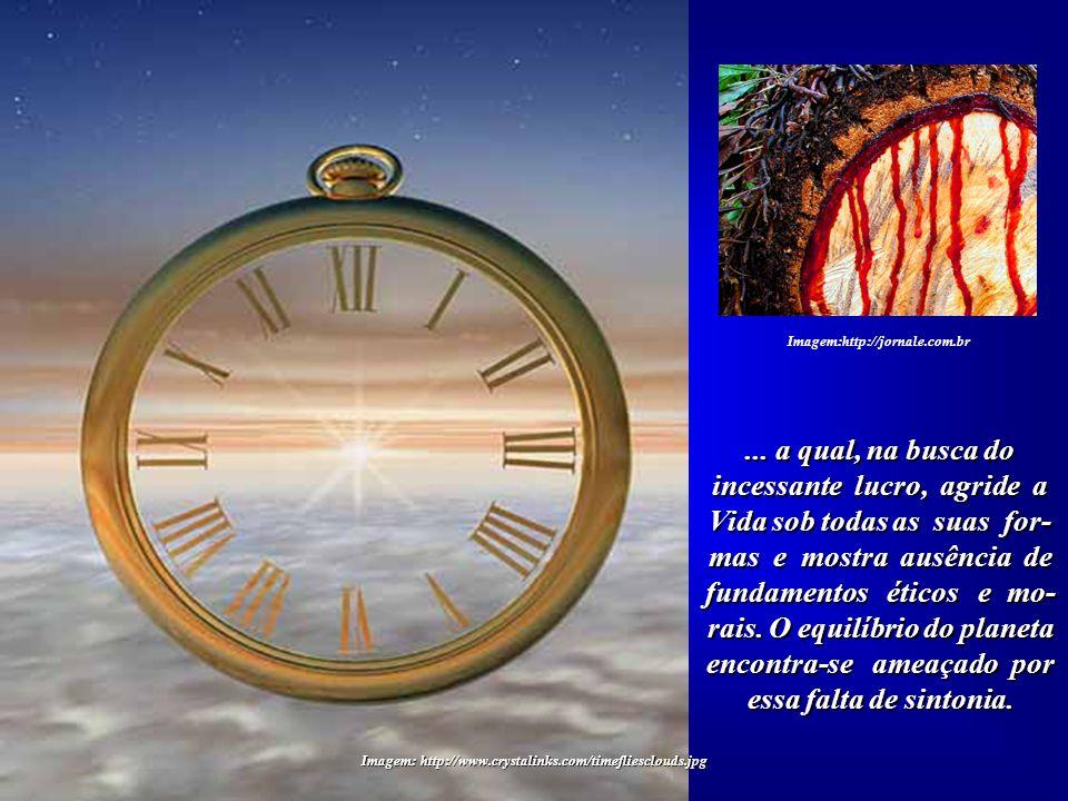 """Imagem:http://troll-urbano.weblog.com.pt Pois o """"tempo"""" da Terra, estabelecido pelos grandes ciclos naturais, não consegue harmonizar-se com a prática"""