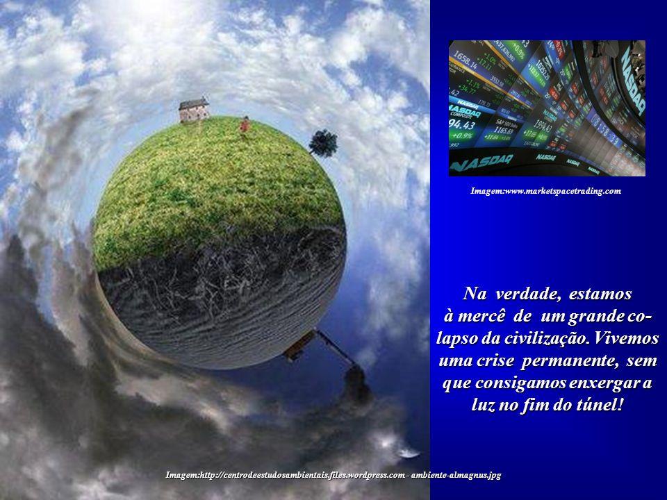 Imagem:http://centrodeestudosambientais.files.wordpress.com - ambiente-almagnus.jpg Questões ambientais, cujas origens estão na ação da própria Humani