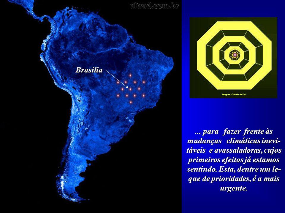 """A proposta de construção das """"Doze Cidades do Sol"""", todas situadas em torno de Brasília, visa alertar, prepa- rar e sugerir algumas provi- dências que"""