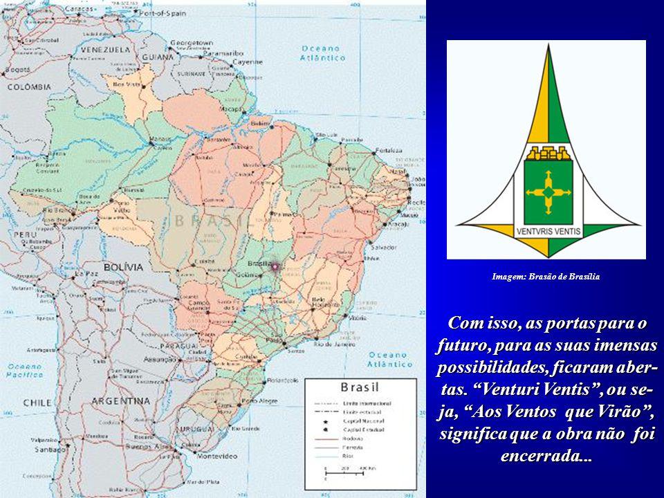 """O Brasão Oficial de Brasília mostra claramente o simbolismo das """"quatro direções"""". Imagem: Brasão de Brasília"""