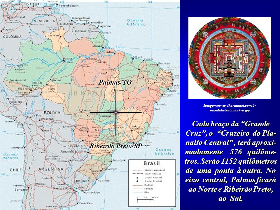A partir do ponto central e das quatro direções, Norte, Sul, Leste e Oeste, forma- mos uma Grande Cruz em pleno Planalto Central do Brasil, simbolizan