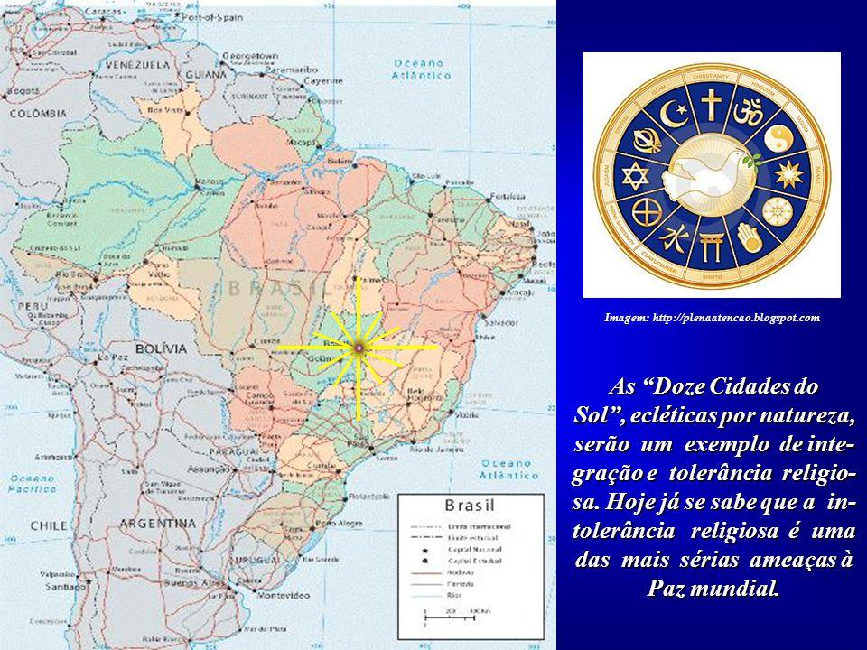 """No Planalto Central do Brasil poderá acontecer a tão aguardada união entre os princípios espirituais do Ocidente e Oriente. Ou seja, entre a """"Cruz"""" e"""