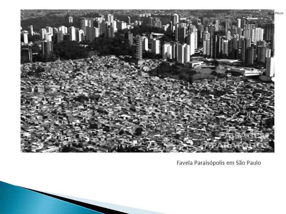 Favela Paraisópolis em São Paulo