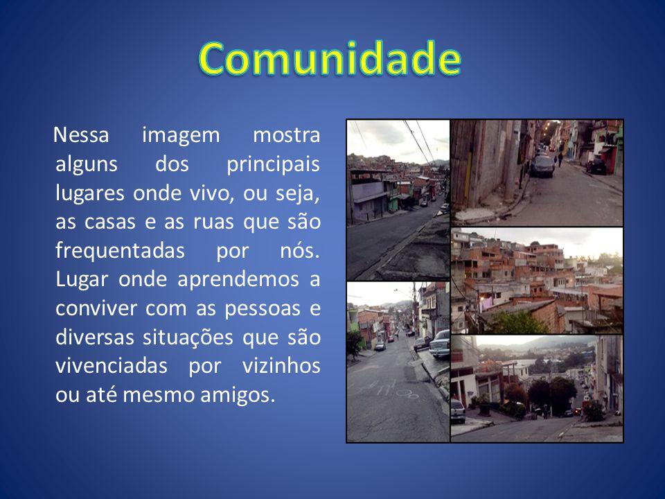 Nessa imagem mostra alguns dos principais lugares onde vivo, ou seja, as casas e as ruas que são frequentadas por nós. Lugar onde aprendemos a convive