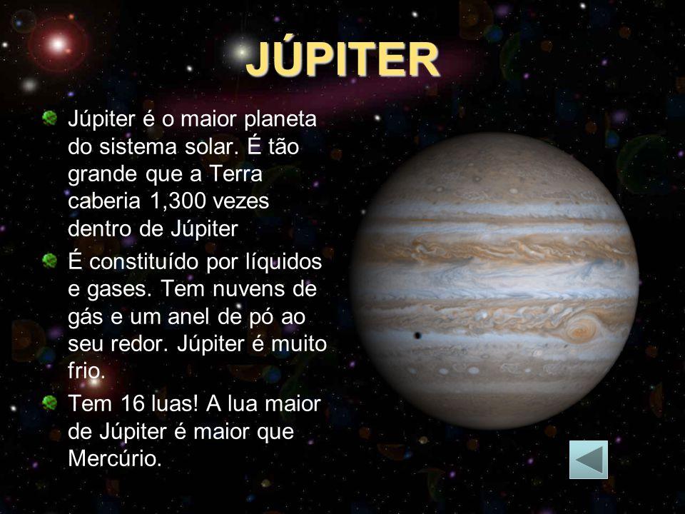 JÚPITER Júpiter é o maior planeta do sistema solar.