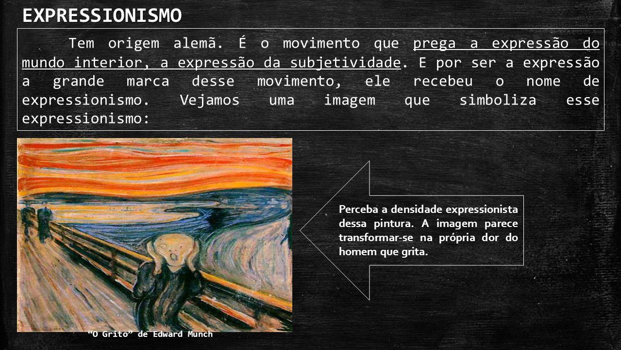 As principais características do expressionismo na literatura: Composições abstratas – como nas pinturas, os escritores também gostava de deformações abstratas ao real.