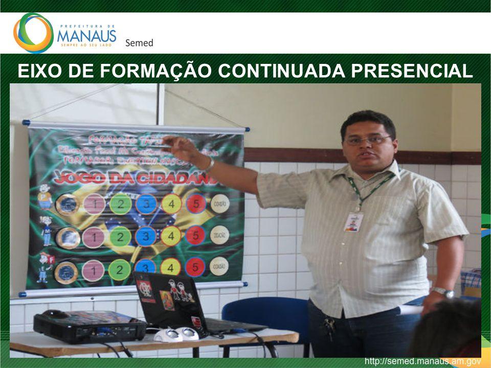 EIXO DE FORMAÇÃO CONTINUADA PRESENCIAL