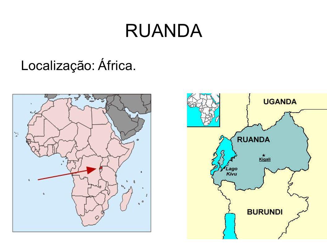 Localização: África. RUANDA