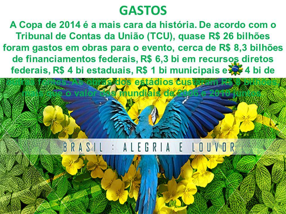 INGRESSOS Os preços dos ingressos para as partidas da Copa de 2014 variam de R$ 30 a R$ 1.980, para brasileiros, e de 90 a 990 dólares para estrangeiros.