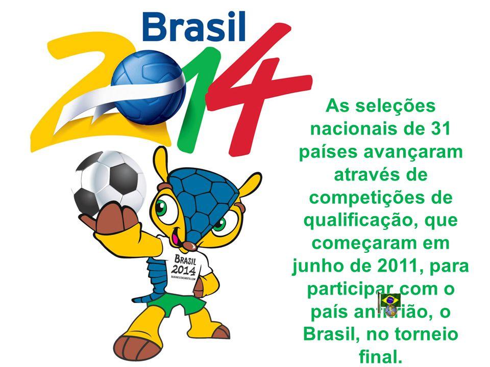 As seleções nacionais de 31 países avançaram através de competições de qualificação, que começaram em junho de 2011, para participar com o país anfitrião, o Brasil, no torneio final.