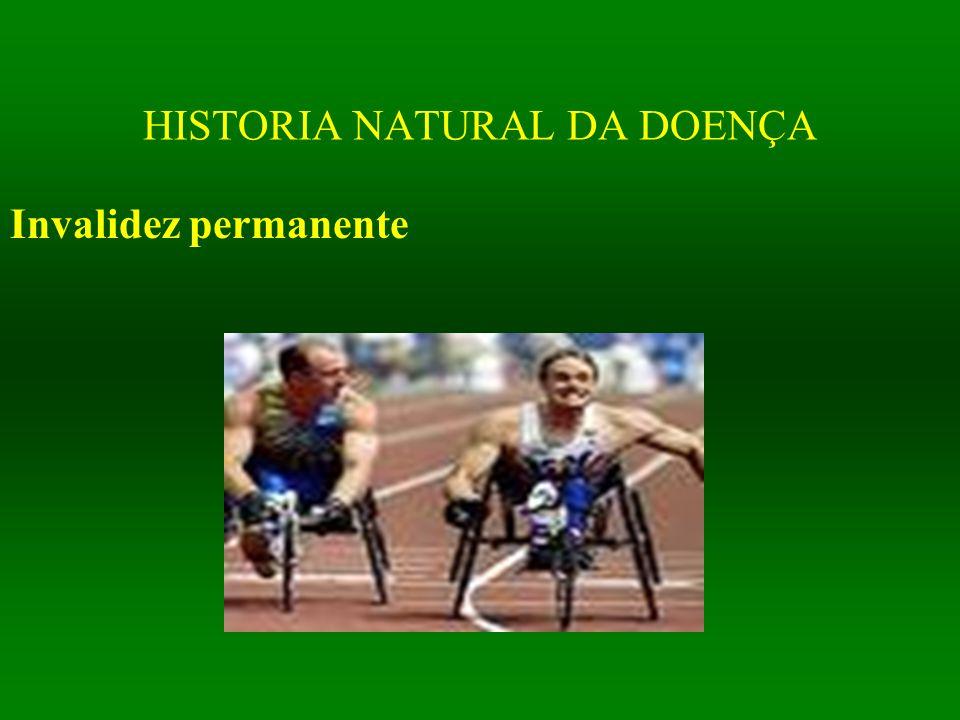 HISTORIA NATURAL DA DOENÇA Invalidez permanente