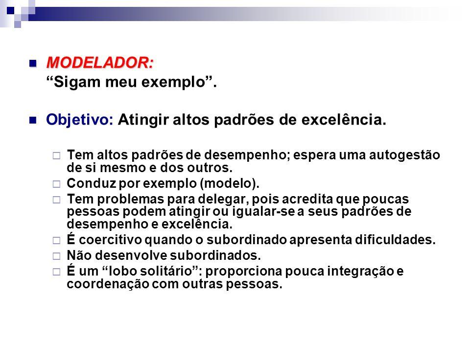 MODELADOR: MODELADOR: Sigam meu exemplo .Objetivo: Atingir altos padrões de excelência.