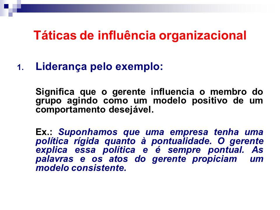 Táticas de influência organizacional 1.
