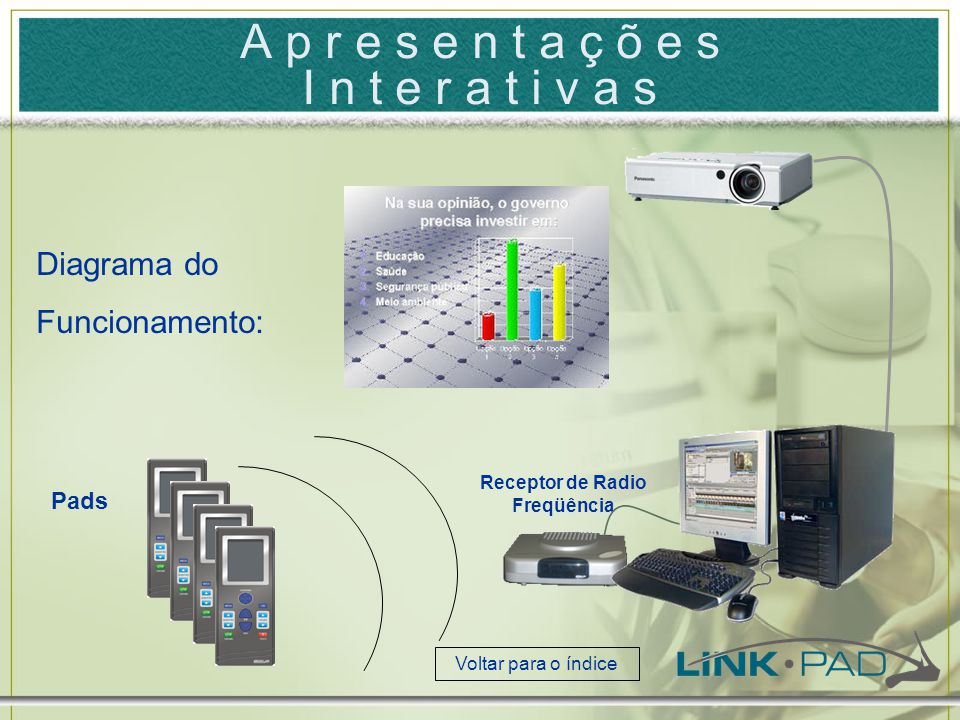 A v a l i a ç õ e s / P r o v a s O pad também pode ser usado para fazer provas ou avaliações.