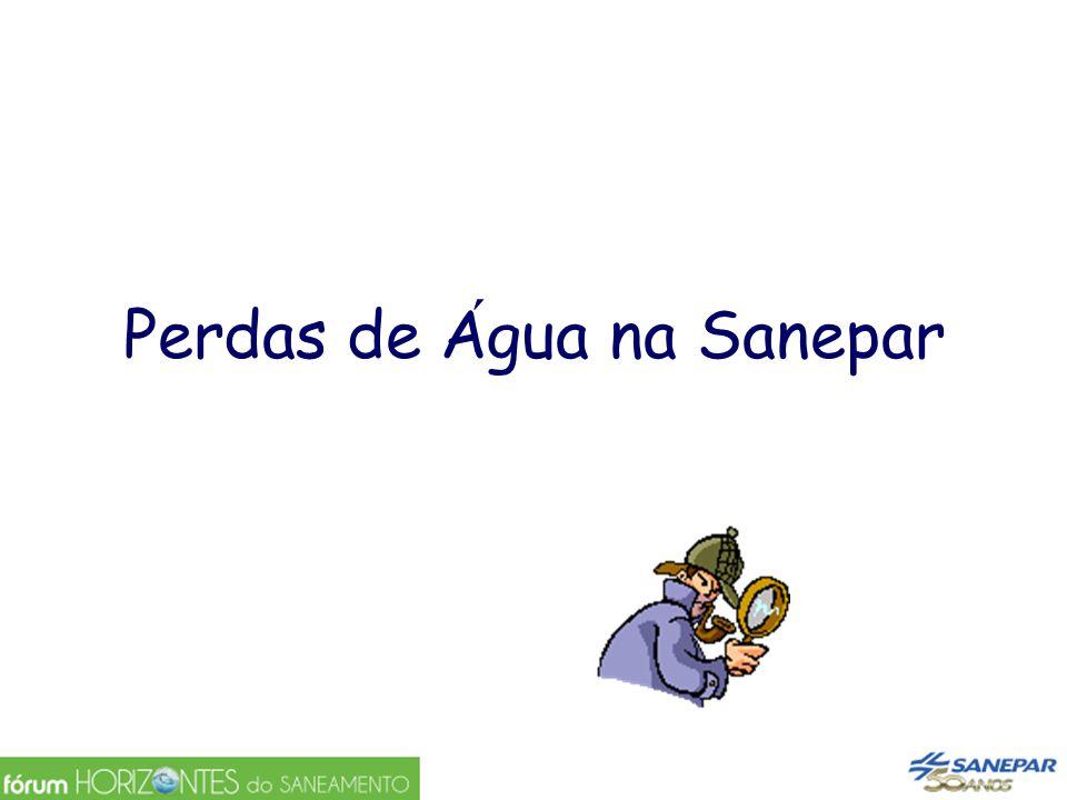 Perdas de Agua na Sanepar