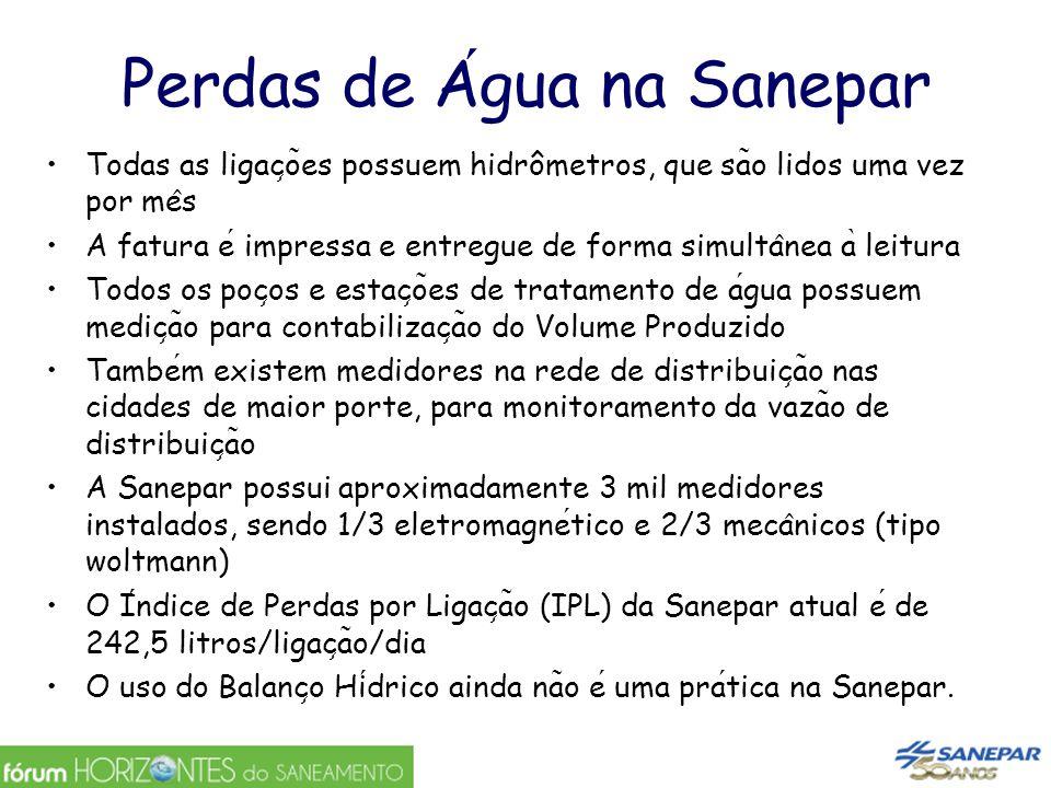 Desagregação do sistema por UR, SA e DMC- para poder focar melhor Hoje SANEPAR está com 20.000 lig.