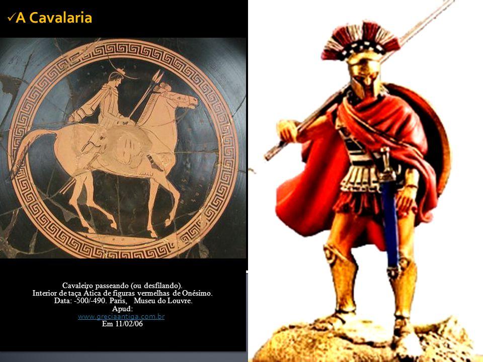 A Cavalaria  Cavalos e a condição Social do Cidadão  Péricles e o recrutamento de um corpo de cavalaria em meados do V século a.C. Limitações das un