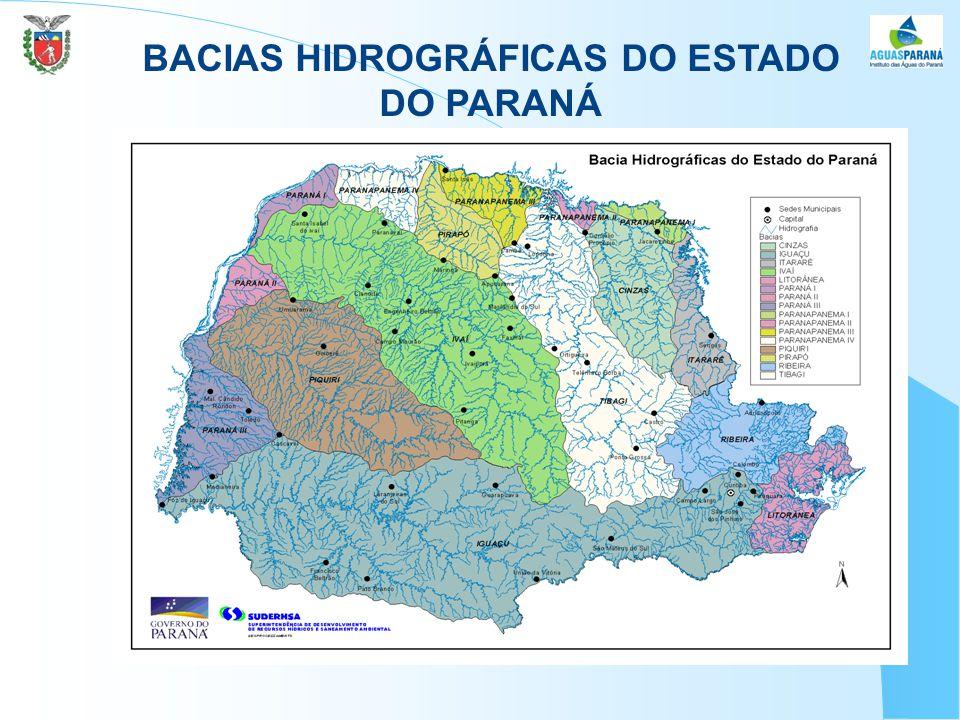 BACIAS HIDROGRÁFICAS DO ESTADO DO PARANÁ