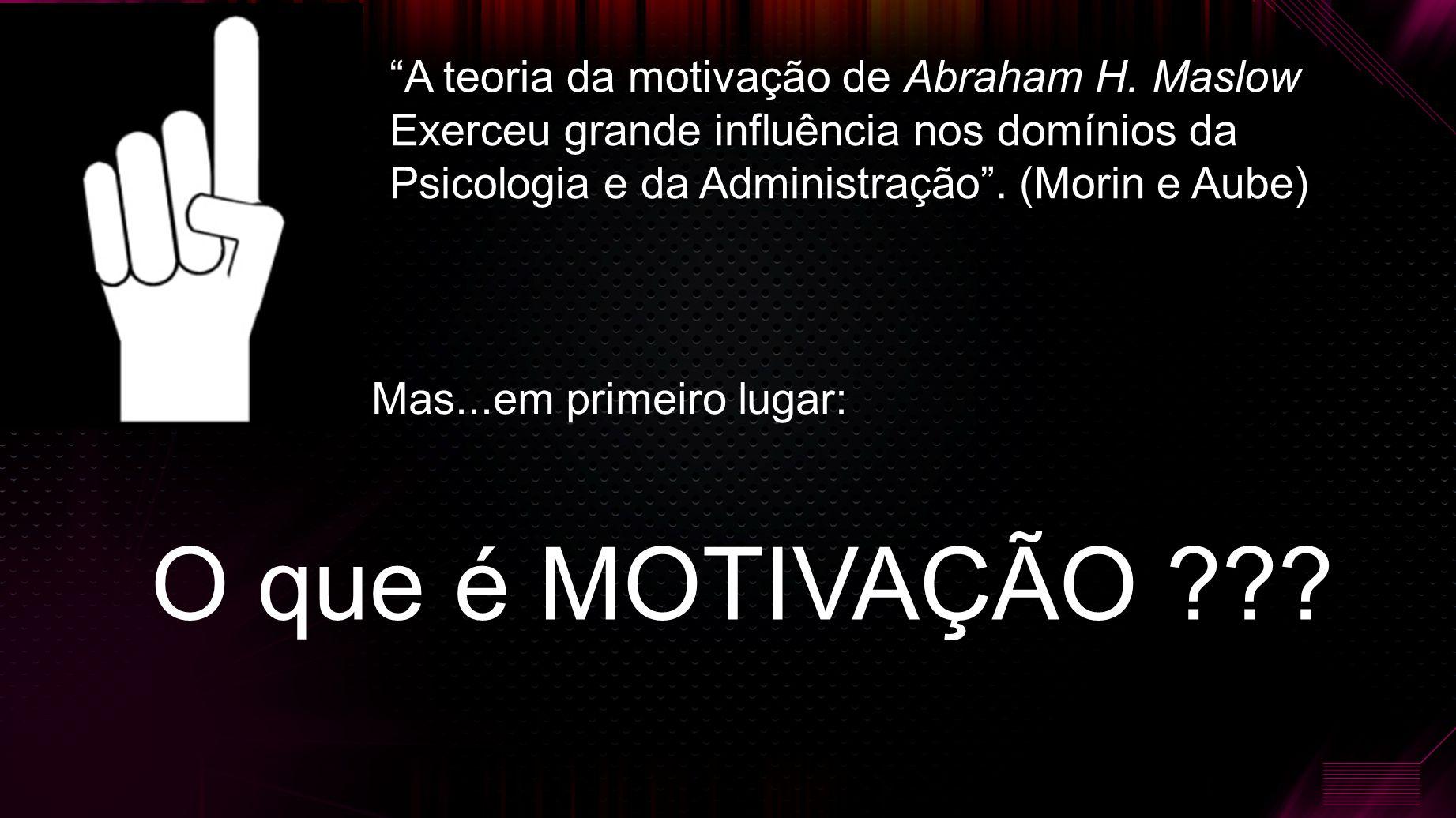 A teoria da motivação de Abraham H.
