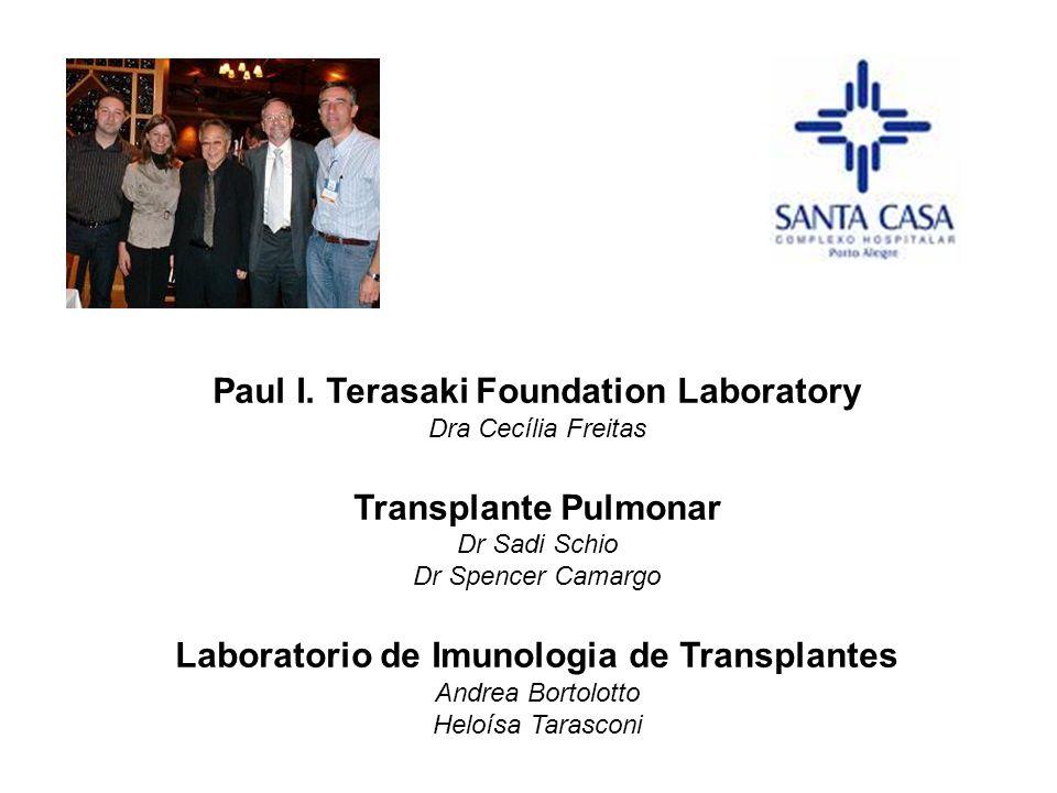Paul I. Terasaki Foundation Laboratory Dra Cecília Freitas Transplante Pulmonar Dr Sadi Schio Dr Spencer Camargo Laboratorio de Imunologia de Transpla