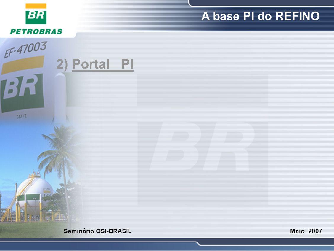 O Refino A base PI do REFINO Maio 2007 Seminário OSI-BRASIL 2) Portal PI