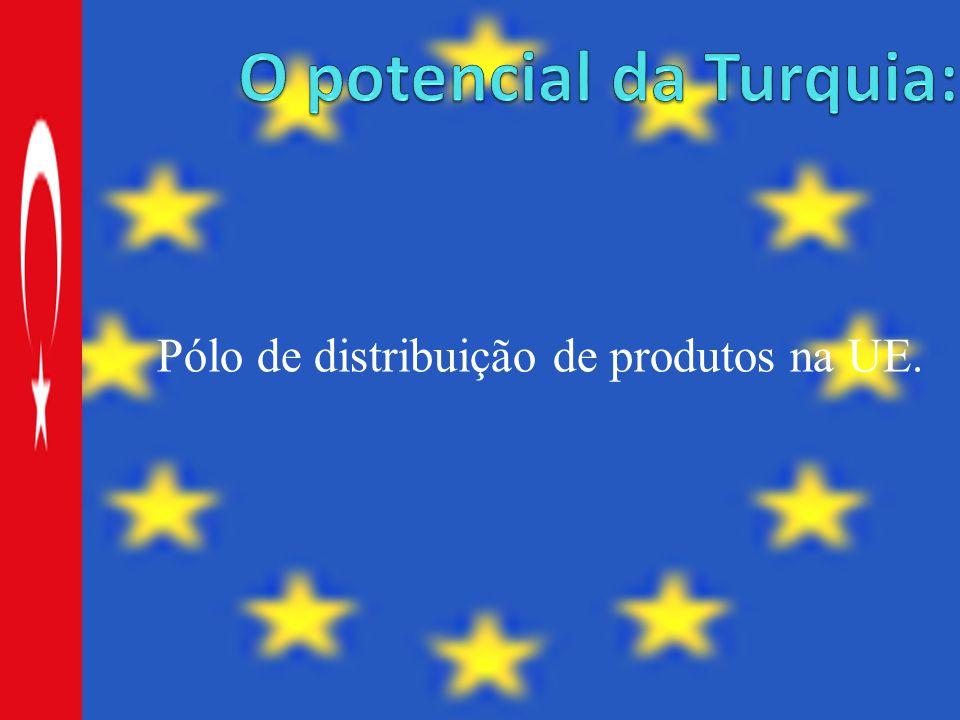 Pólo de distribuição de produtos na UE.