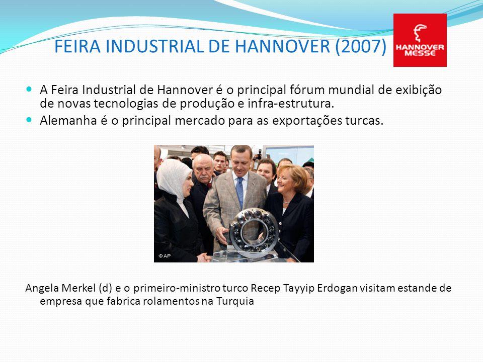 FEIRA INDUSTRIAL DE HANNOVER (2007) A Feira Industrial de Hannover é o principal fórum mundial de exibição de novas tecnologias de produção e infra-es