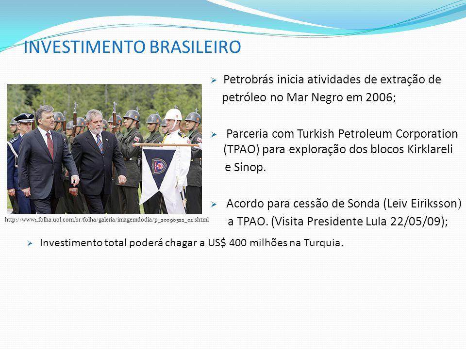 INVESTIMENTO BRASILEIRO http://www1.folha.uol.com.br/folha/galeria/imagemdodia/p_20090522_02.shtml  Petrobrás inicia atividades de extração de petról