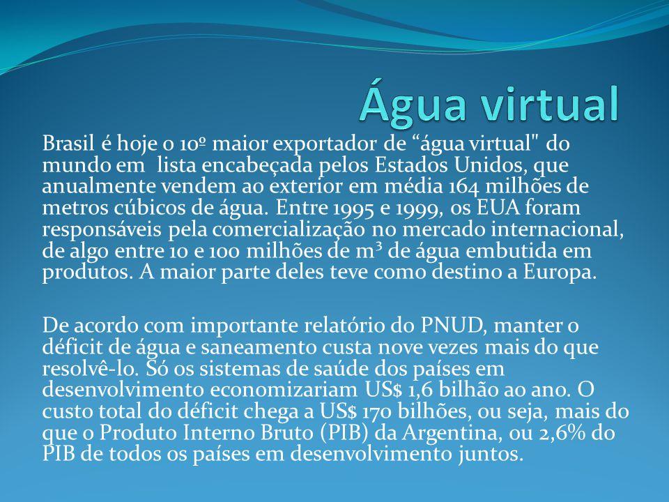 """Brasil é hoje o 10º maior exportador de """"água virtual"""