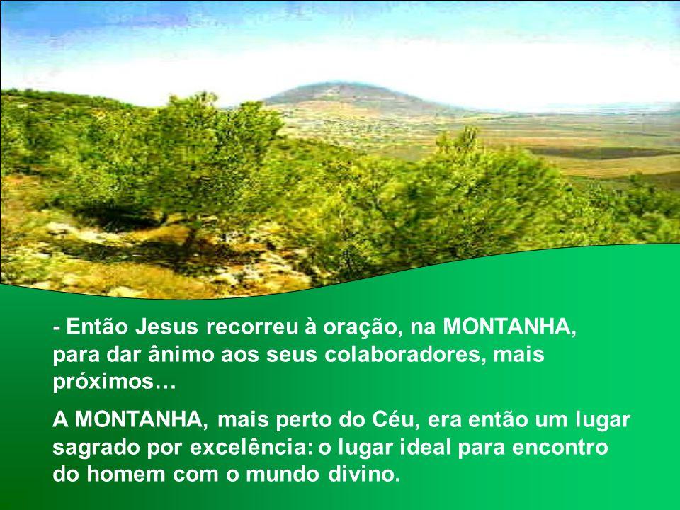 O Evangelho apresenta a FÉ DOS APÓSTOLOS, fortalecida na MONTANHA pela Transfiguração de Jesus. (Lc 9,28b-36) Jesus estva a caminho de Jerusalém, com