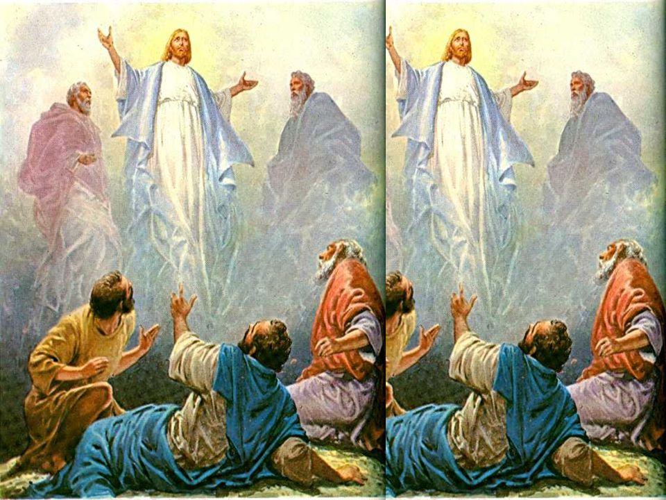 O Seu rosto brilhava como o sol e as suas vestes tornaram-se brancas Neste contato pessoal com Deus, perto do Céu, aconteceu a transfiguração, que fez brilhar no rosto de Jesus, a glória de Deus.