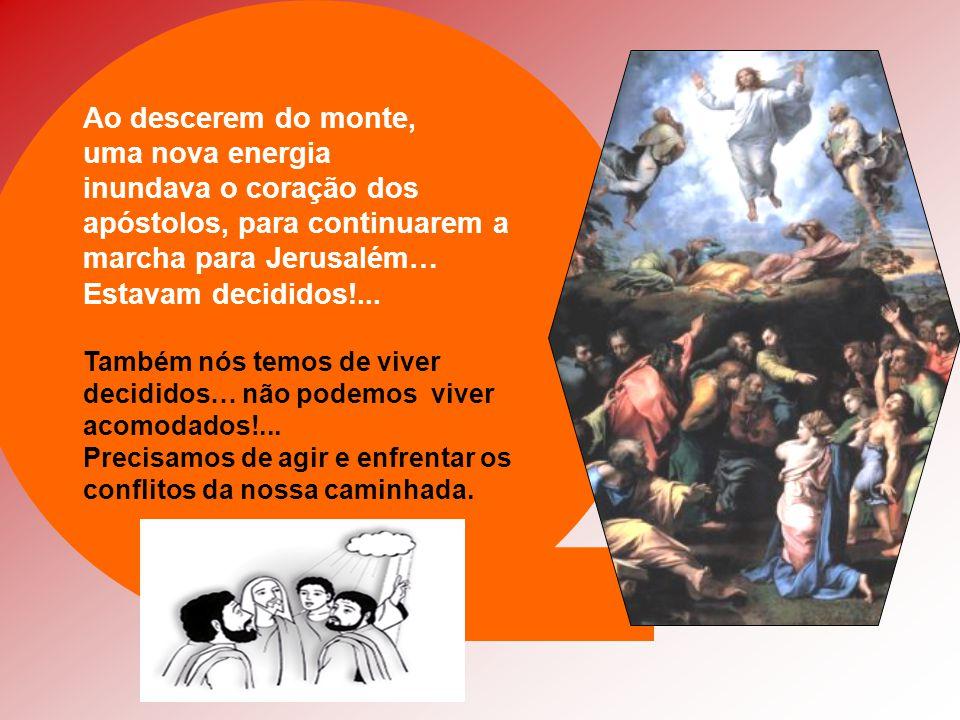 - Apareceram Moisés e Elias: os grandes Profetas do Antigo Testamento. - Os três discípulos dormiam… - Pedro desejava permanecer naquele lugar a conte