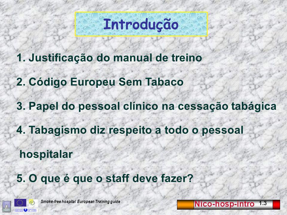 Nico-hosp-intro 1.3 Smoke-free hospital European Training guide Introdução 1.