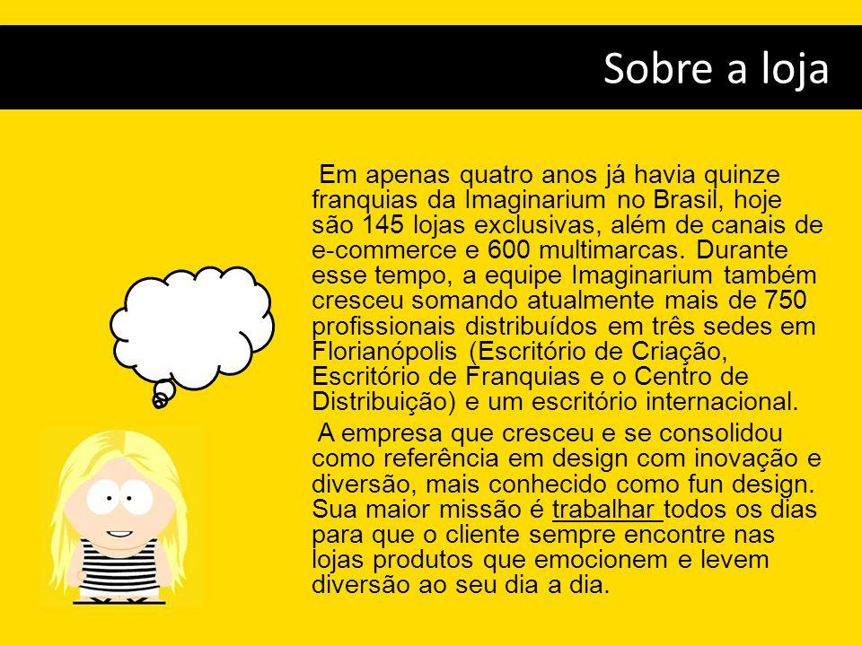 Em apenas quatro anos já havia quinze franquias da Imaginarium no Brasil, hoje são 145 lojas exclusivas, além de canais de e-commerce e 600 multimarca