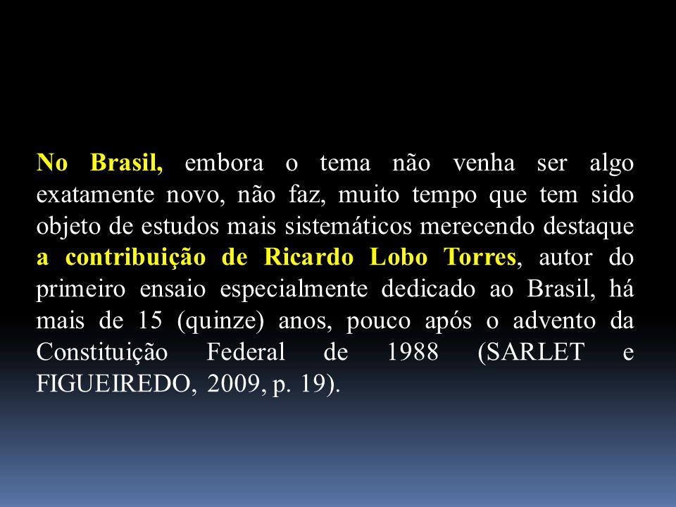 No Brasil, embora o tema não venha ser algo exatamente novo, não faz, muito tempo que tem sido objeto de estudos mais sistemáticos merecendo destaque