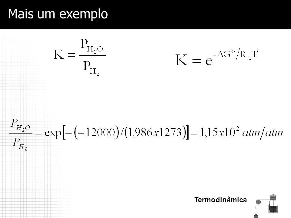 Termodinâmica Mais um exemplo