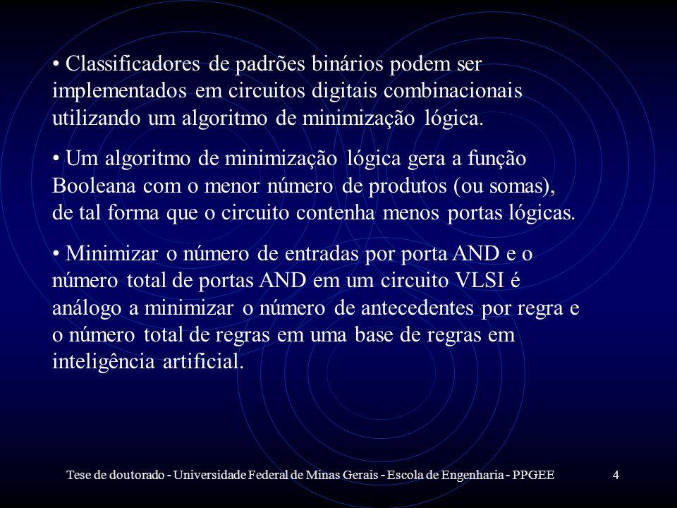 Tese de doutorado - Universidade Federal de Minas Gerais - Escola de Engenharia - PPGEE4 Classificadores de padrões binários podem ser implementados e
