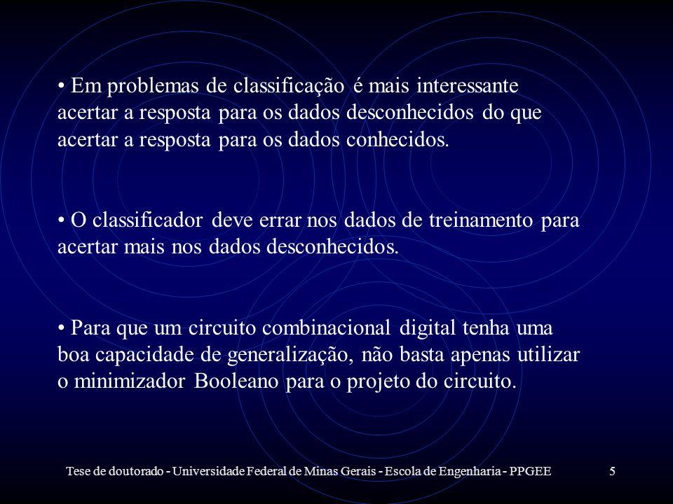 Tese de doutorado - Universidade Federal de Minas Gerais - Escola de Engenharia - PPGEE5 Em problemas de classificação é mais interessante acertar a r