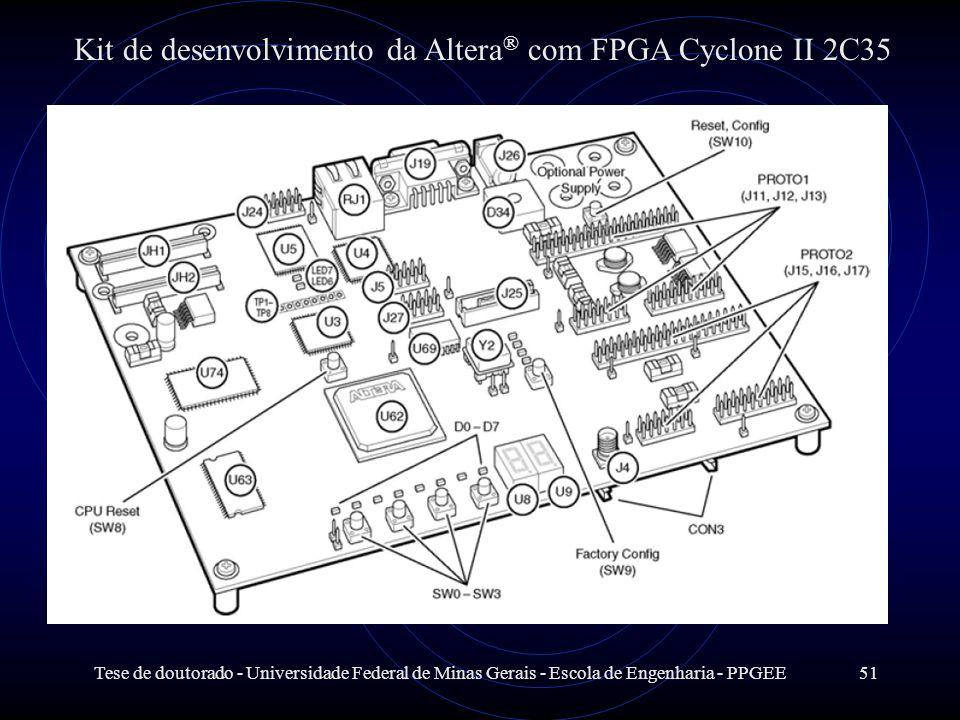 Tese de doutorado - Universidade Federal de Minas Gerais - Escola de Engenharia - PPGEE51 Kit de desenvolvimento da Altera ® com FPGA Cyclone II 2C35