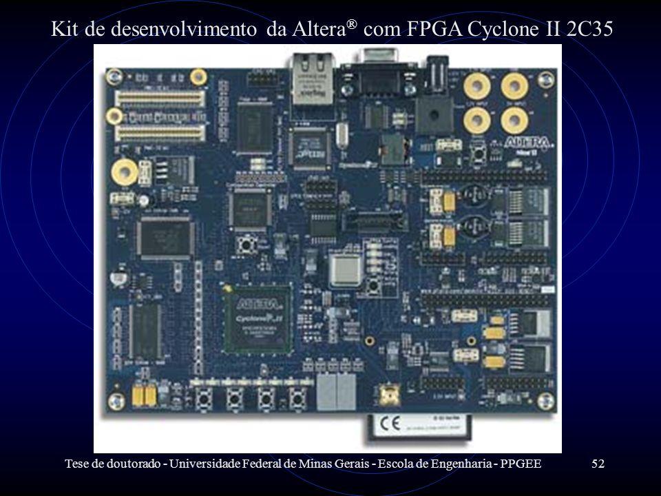 Tese de doutorado - Universidade Federal de Minas Gerais - Escola de Engenharia - PPGEE52 Kit de desenvolvimento da Altera ® com FPGA Cyclone II 2C35