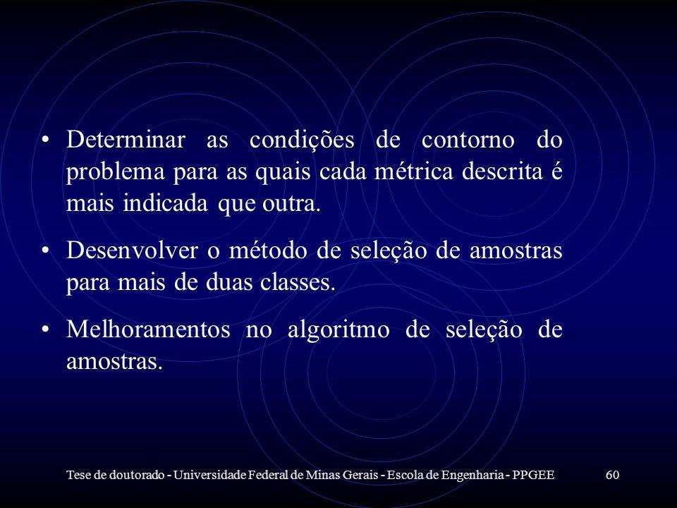 Tese de doutorado - Universidade Federal de Minas Gerais - Escola de Engenharia - PPGEE60 Determinar as condições de contorno do problema para as quai