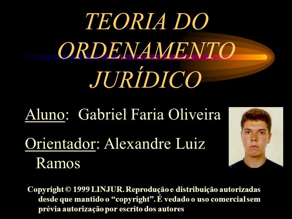 TEORIA DO ORDENAMENTO JURÍDICO Aluno: Gabriel Faria Oliveira Orientador: Alexandre Luiz Ramos Copyright © 1999 LINJUR. Reprodução e distribuição autor