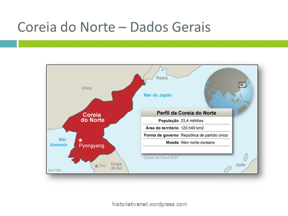 Coreia do Norte – Dados Gerais historiativanet.wordpress.com 7