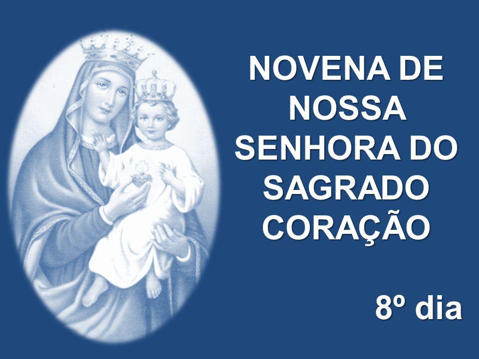 A Maria festejemos mãe da nossa salvação. Tesoureira das riquezas do Sagrado Coração.