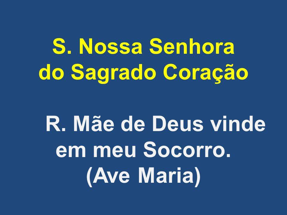 S. Nossa Senhora do Sagrado Coração R. Mãe de Deus vinde em meu Socorro. (Ave Maria)