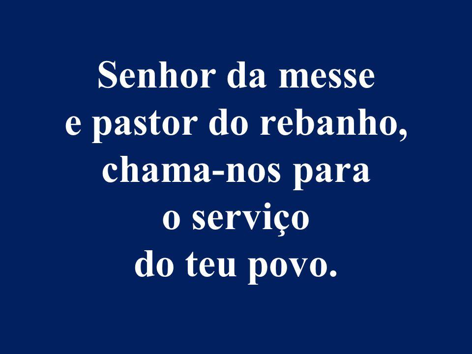 Senhor da messe e pastor do rebanho, chama-nos para o serviço do teu povo.