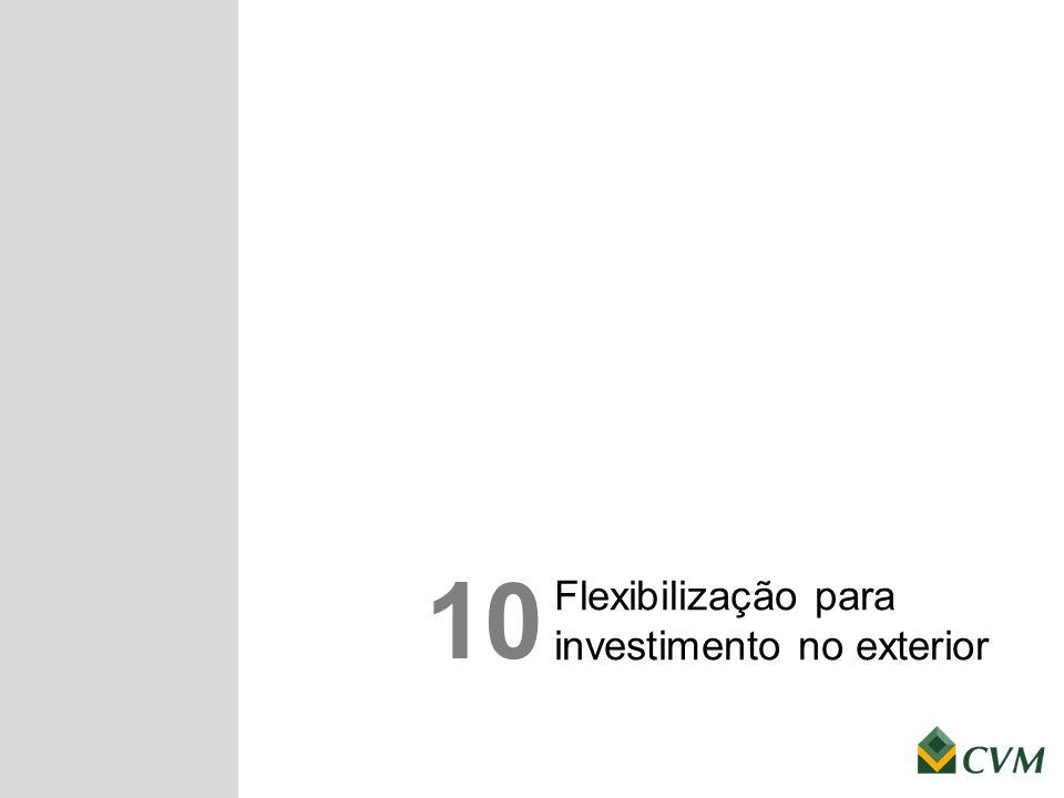 Flexibilização para investimento no exterior 10